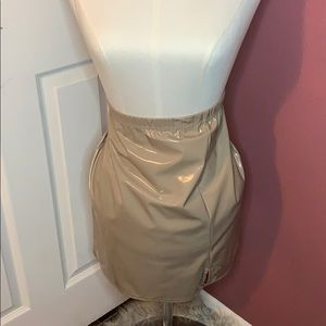 Tan Latex skirt